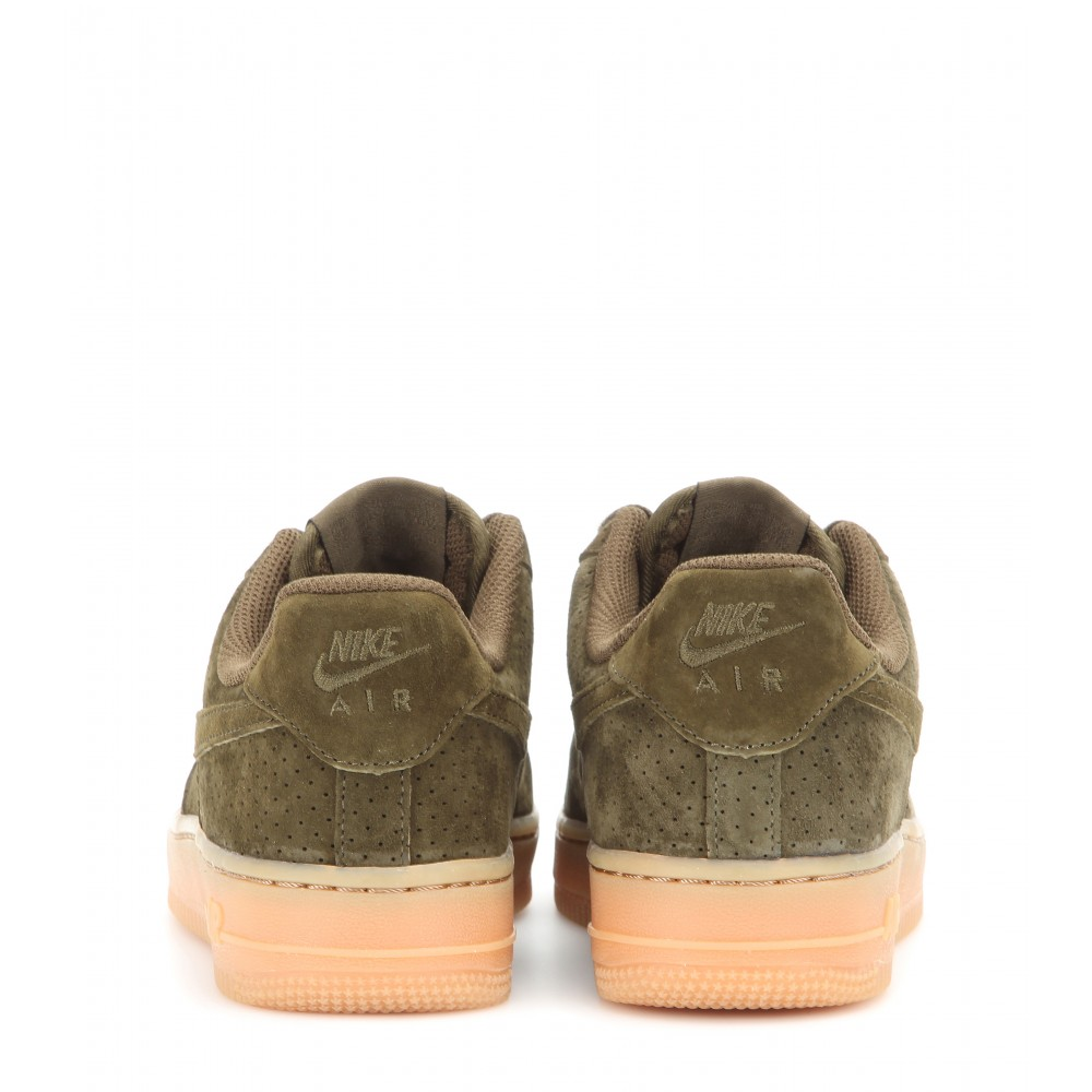 nike air force one kaki suede